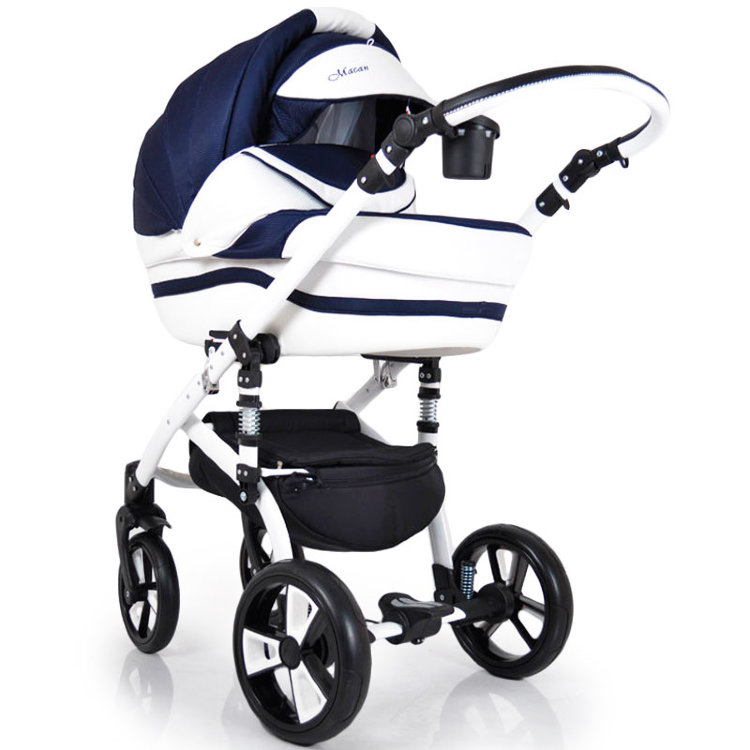 "Детская коляска 2 в 1 ""MACAN"" White-Blue"