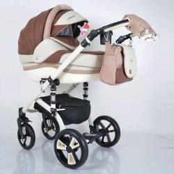 "Детская коляска 2 в 1 ""MACAN"" White-Brown"