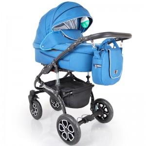 Дитяча коляска 2 в 1 Шеррі люкс синій