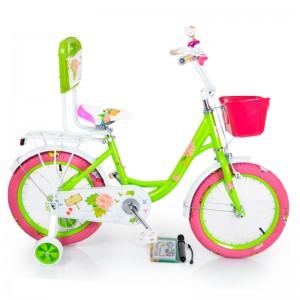 Велосипед 16-ROSES зелений