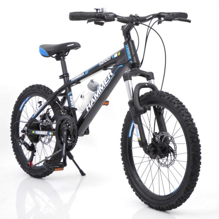 """Горный подростковый Велосипед """"S200 HAMMER"""" Колёса 20''х2,25, Рама 12'' Черно-синий"""
