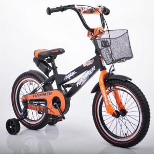 """Детский Велосипед """"S600 HAMMER"""" Колёса 16''х2,4' Черно-оранжевый"""