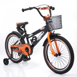 """Детский Велосиед """"S600 HAMMER"""" Колёса 20''х2,4' Черно-оранжевый"""