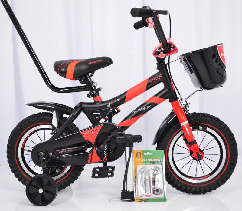 """Детский велосипед от 3 лет с родителськой ручкой и боковыми колесами  """"HAMMER-12"""" дюймов S500"""