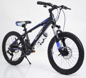 Гірський Підлітковий Велосипед С 300 БЛАСТ 20 дюймів чорно-блакитний