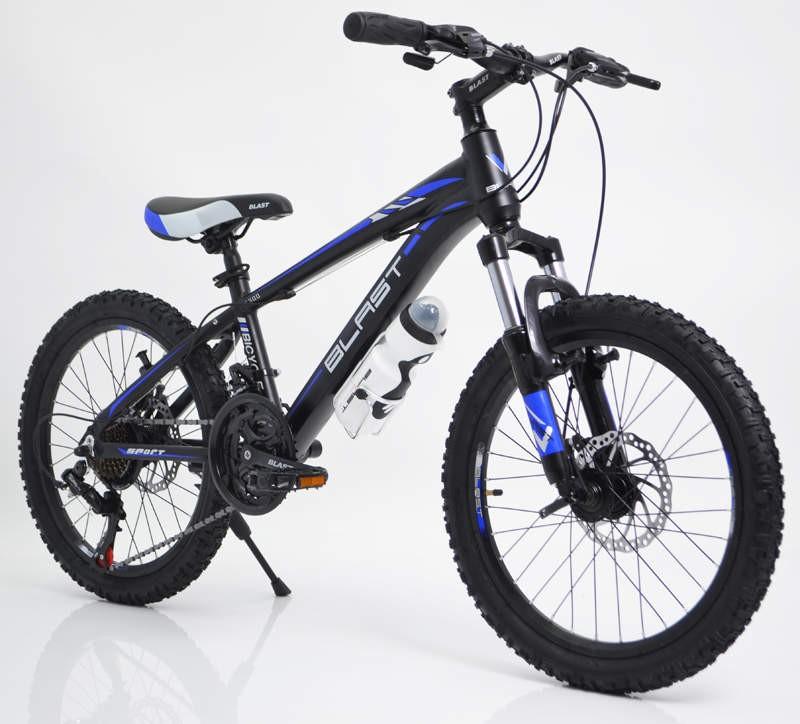 Горный Подростковый Велосипед S300 BLAST-БЛАСТ 20 Чёрно-Синий Алюминиевый легкий