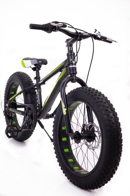 """Фэтбайк Горный велосипед """"S800 HAMMER EXTRIME"""" Колёса 20''х4,0. Алюминиевая рама '' зеленый"""