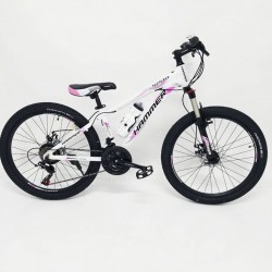 Mountain Teenage Bike HAMMER-24 White Pink