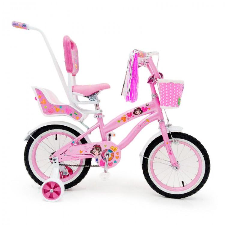 Детский Велосипед JASMINE 14 c родительской ручкой