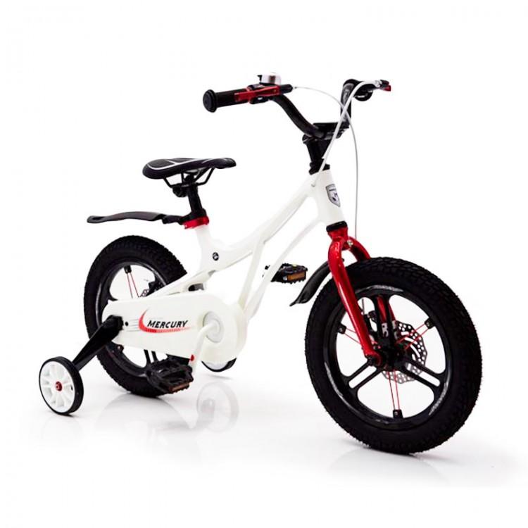 Детский Велосипед 14-MERCURY Магниевая рама Белый