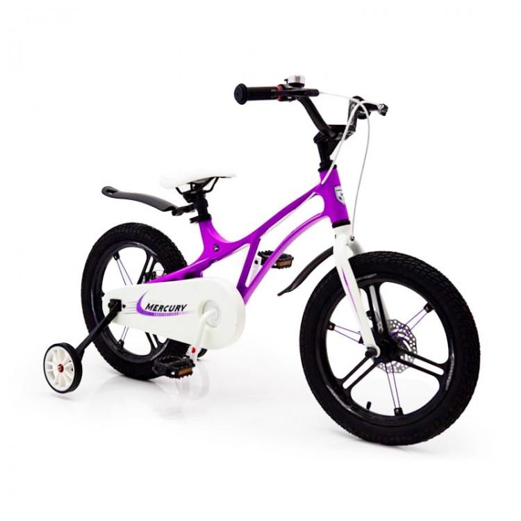 Детский Велосипед 14-MERCURY Магниевая рама Фиолетовый
