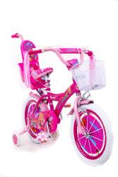 """Детский Велосипед для девочки """"BARBIE-16"""" БАРБИ с родительской ручкой"""
