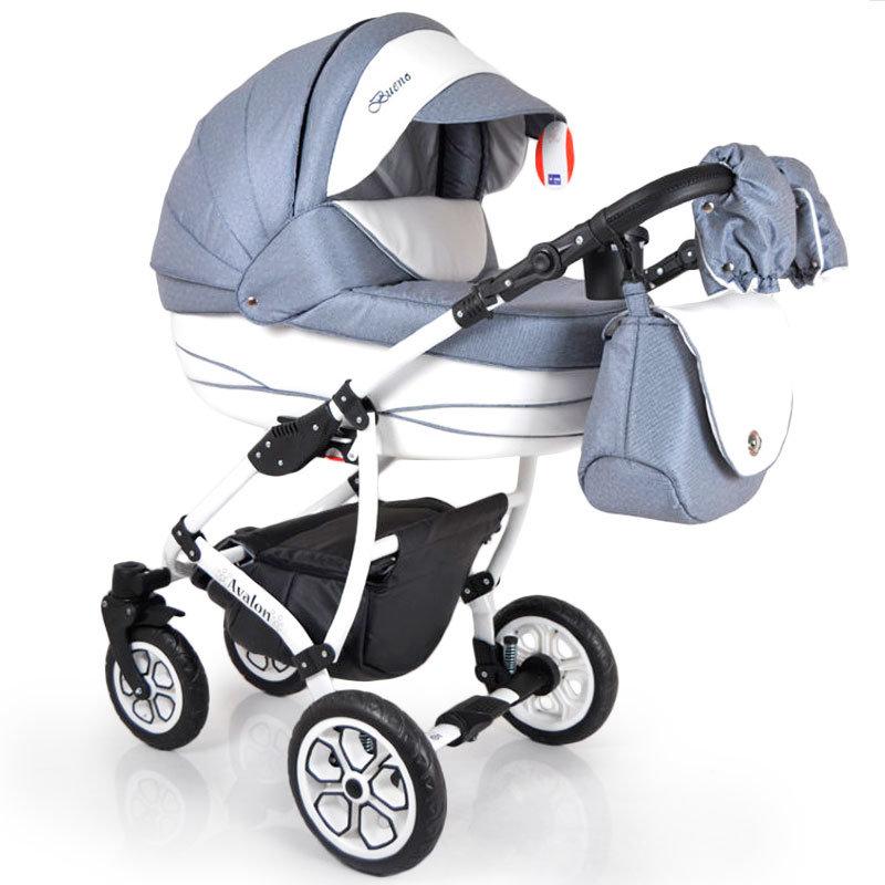 Baby Stroller 2 in 1 AVALON BUENO Grey-White
