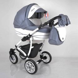 Детская коляска 2 в 1 AVALON BUENO Grey-white