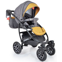 Baby Stroller 2 in 1 AVALON BUENO Grey-Brown