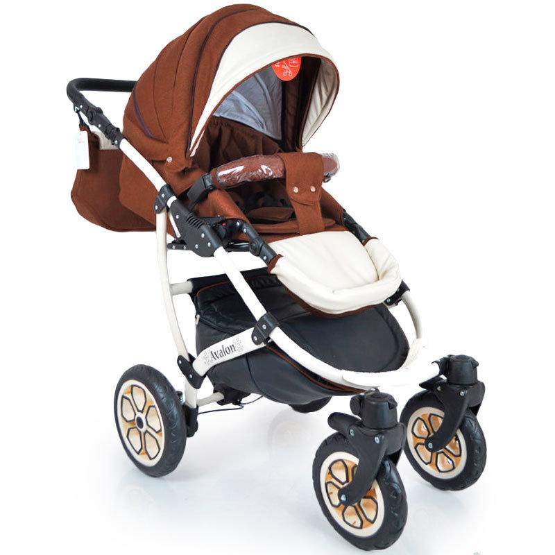 Детская коляска 2 в 1 AVALON BUENO Коричнево-белая