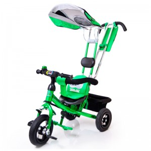 Велосипед з ручкою Lex-007 (10/8 ПОВІТРЯНІ колеса) зелений