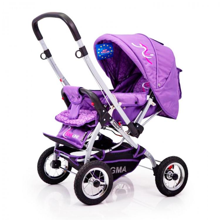 Дитяча коляска з перекидною ручкою Sigma H-538AF (надувні колеса)