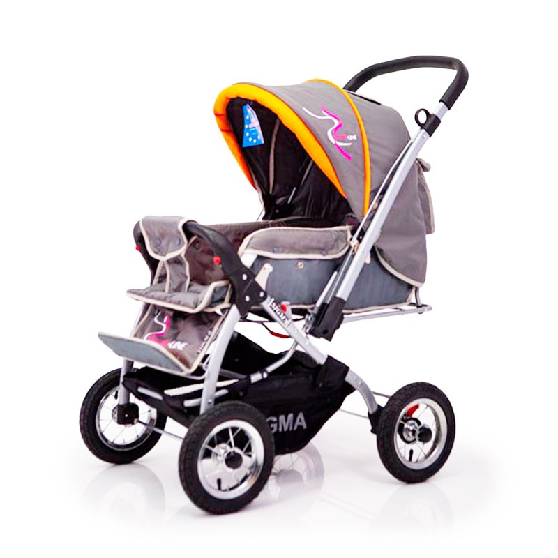 Baby Stroller Sigma H-538AF (inflatable wheels) grey