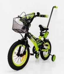 Детский велосипед с родительской ручкой Racer 14 дюймов