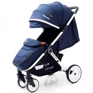 Дитяча коляска Panamera C689 синій (білий)