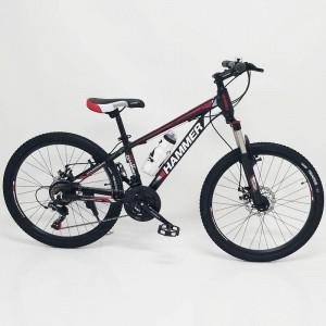 Горный подростковый Велосипед HAMMER-24 Черно-Красный(Алюминиевый)